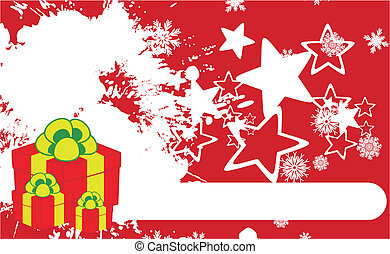 xmas gift box background4