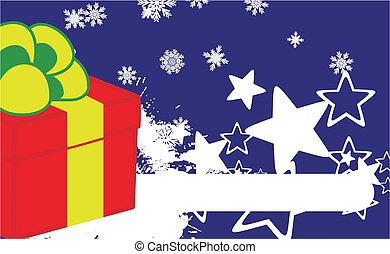 xmas gift box background6