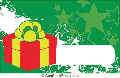 xmas gift box background7