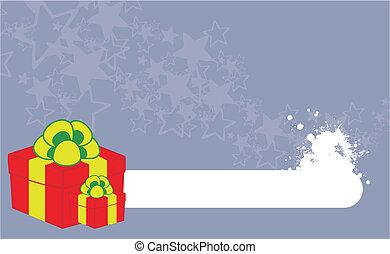 xmas gift box background8