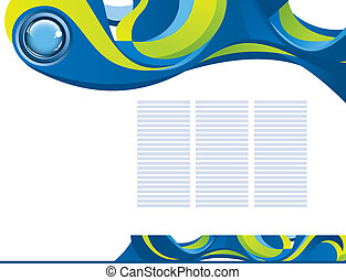 abstract template background with blue button