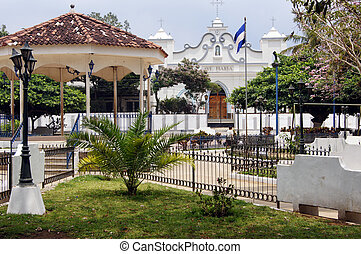Square - Central square in Ataco on the Ruta de Flores in...