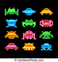 Space invaders - Custom designed space invaders similar to...