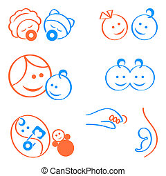 Babies logo elements - Design elements for babies,...