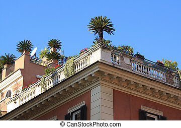 Rooftop garden in Rome - Rome - rooftop garden next to...