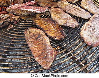 Barbacoa - Barbecue beef.