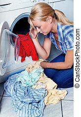 ama de casa, lavado, máquina
