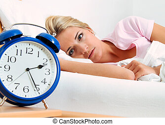 clock with sleepless at night - clock with sleep at night...