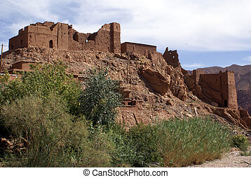 Casbah on the hill in Bulman Dodes in Morocco
