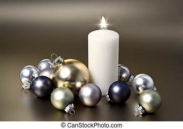 white christmas candle - An image of a white christmas...
