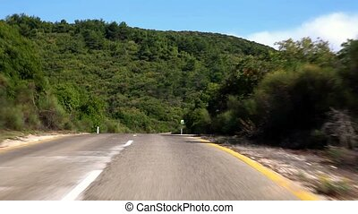 u0421ountry road - Winding road in the mountains