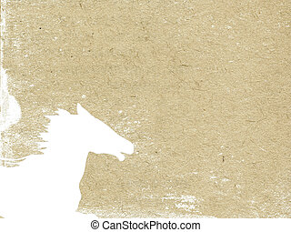horse head on grunge background