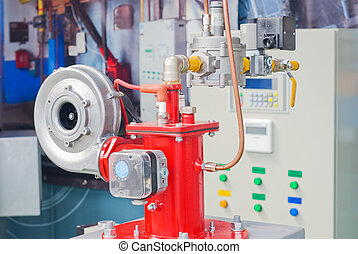 Modern boiler room equipment for heating system Pipelines,...