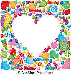 candy heart - illustration of a candy heart