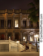 Ciragan palace hotel Bosphorus Istanbul Turkey in the night...