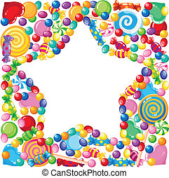 candy star - illustration of a candy star