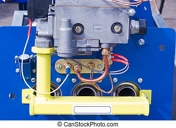 gas boiler - Internal view of the gas boiler to heat your...