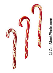Candy Canes isolated with clipping path - Candy Canes...