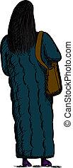 Woman in Long Coat