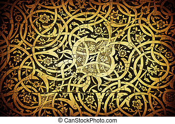 Tiled background, oriental ornaments from Uzbekistan Tiled...