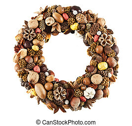 Dry fruit wreath - A beautiful wreath made of various dry...