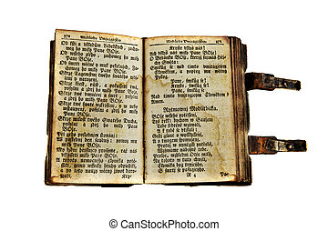 Ancient book - Very old open book from the 18th century...