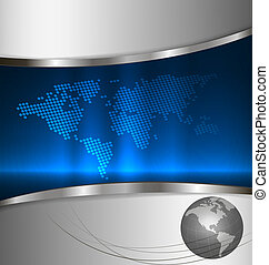 Business elegant abstract background with world map Vector...