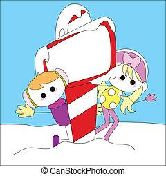 christmas girl card for christmas theme