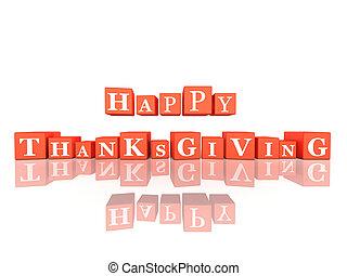 イラスト, 幸せ, 感謝祭, 日, 祝福