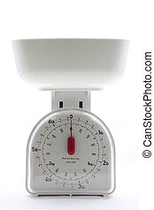 food scale - isolated white kitchen empty food scale utensil...