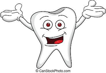 dente, caricatura, personagem