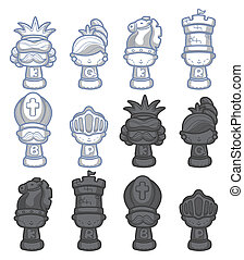 cartoon chess isolated