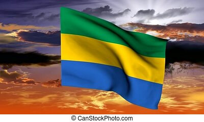 Flag of Gabon - The series includes all the flags of kenia,...