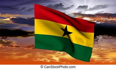 flag ghana - The series includes all the flags of kenia,...