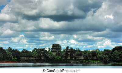 Angkor wat temple time lapse loop