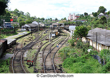 Railway lineas and station in Sri Lanka