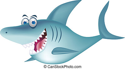 Shark cartoon isolated