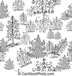 seamless background from Christmas trees