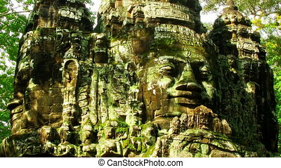 Angkor faces time lapse loop
