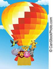 Animal cartoon on balloon
