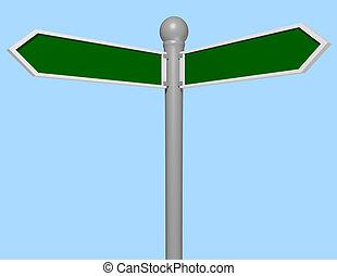 3d Render of a Street Sign Close Up