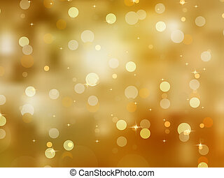 Glittery gold Christmas background. EPS 8 vector file...