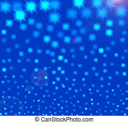 Starry night  -  Abstract illustration starry night