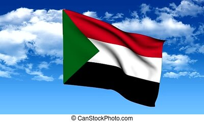 Flag of the Republic of Sudan - animated flag of the...