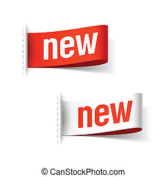 New labels vector illustration