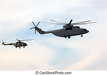 Military helicopters flying systems
