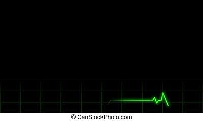 Heart Monitor Lower 3rd Loop - Seamless loop resembling...