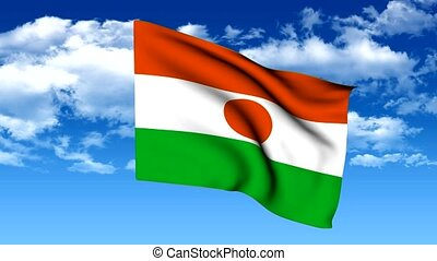 Flag of the Federal Republic of Nig - 3d animation flag of...