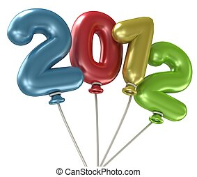 2012 Year Balloons - 3d 2012 Year Balloons 2012 Year...