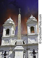 Trinita' dei Monti, Rome, Italy - Trinita' dei Monti in...